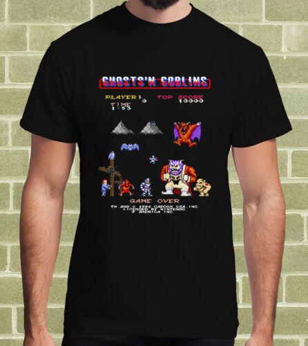GHOSTS/'N GOBLINS VIDEOGAME ARCADE 1986 T-SHIRT  per Uomo e Bambino