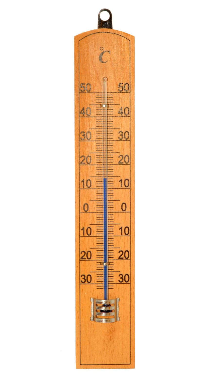 Wooden Centigrade Thermometer Home or Garden -30° - +50°c Celsius Wall Mounted