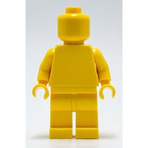 Monochrome Lego Plain Yellow Minifigure Head Torso Hands Legs