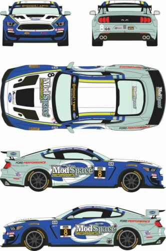1//24 Decal Ford Mustang GT4 #8 Continental Tyre Challenge Watkins Glen 2018