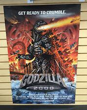 "GODZILLA 2000 One Sheet Original Movie Poster 27"" x 41"" ~ Get Ready to Crumble !"