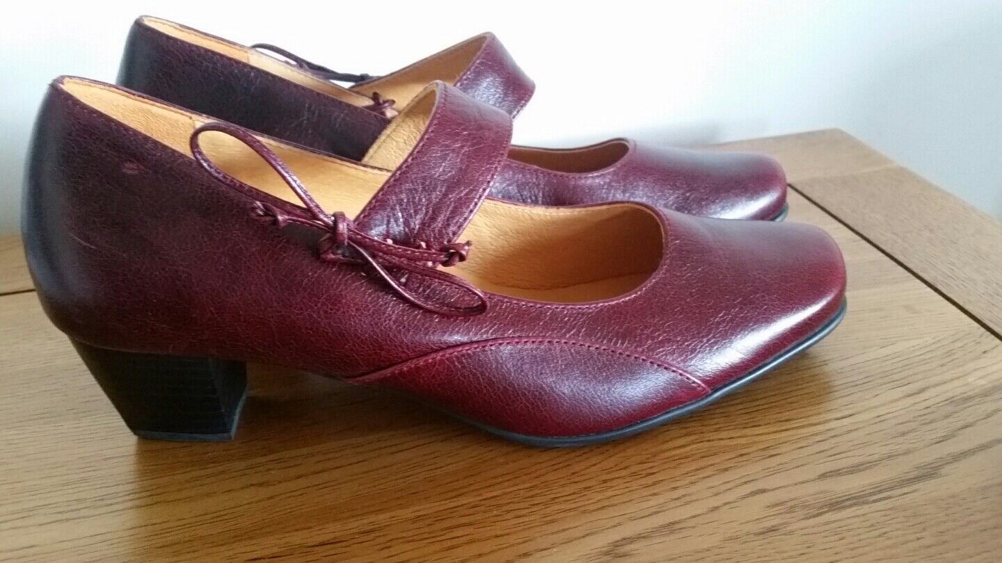 NUOVO Theresia Muck M OX Blood Scarpe Di Pelle UK SZ 6.5 H MADE IN GERMANY
