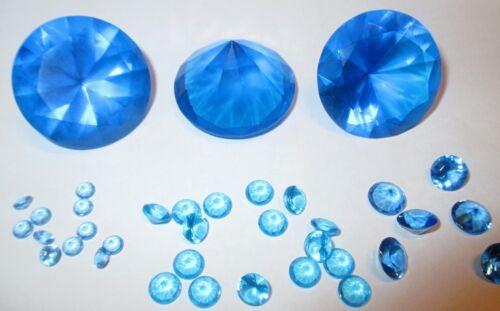 4 mm Ø Himmelblau synthetisches Kristallglas 5 Glasdiamanten Facettenschliff