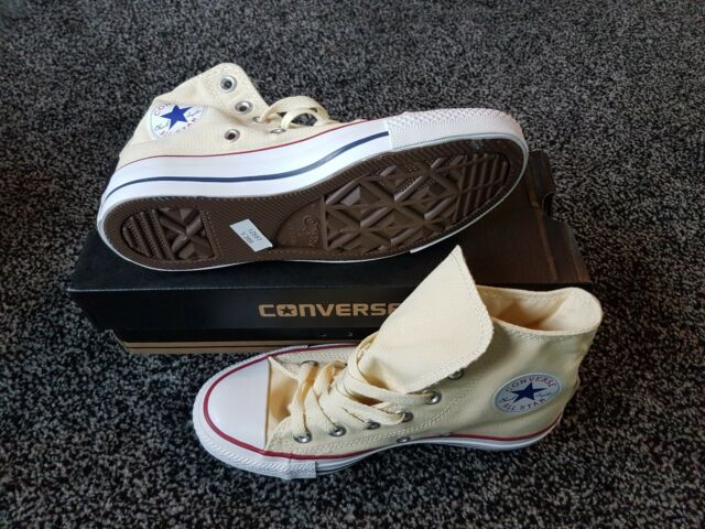 949d2e1c90ba Converse Chuck Taylor Ct All Star Hi Trainers Cream white Size UK 3 ...