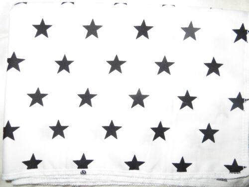 FLAT SHEET cot WHITE BLACK stars cotton FREE POSTAGE