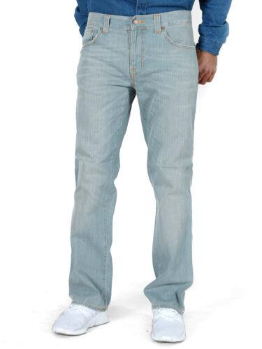 Herren Regular Slim Straight Fit Bio Denim Jeans Hose Slim Jim Iron Grey