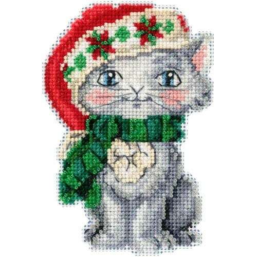 CHRISTMAS HOLIDAY KITTY by MILL HILL CHRISTMAS ORNAMENTS