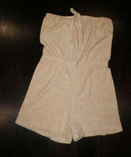 VINTAGE 1970's BEIGE TERRY CLOTH ROMPER NEVER WORN