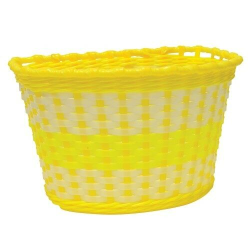 Yellow Childrens Woven Bike Basket  - Free Delivery