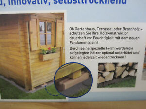 gartenhaus steine fundamentsteine terrassensteine ebay. Black Bedroom Furniture Sets. Home Design Ideas