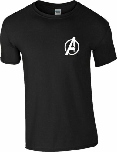 MARVEL Avengers Logo T-shirt mossa finale Infinity War SUPERHEROS Bambini /& Adulti Top