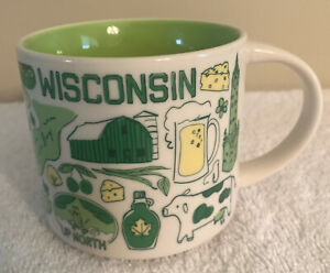 STARBUCKS MUG WISCONSIN - BEEN THERE SERIES ACROSS THE GLOBE COLLECTION