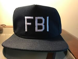 Vintage FBI Snapback Hat Cap Blue Never Worn USA Made in America New ... 50b03be5a2a