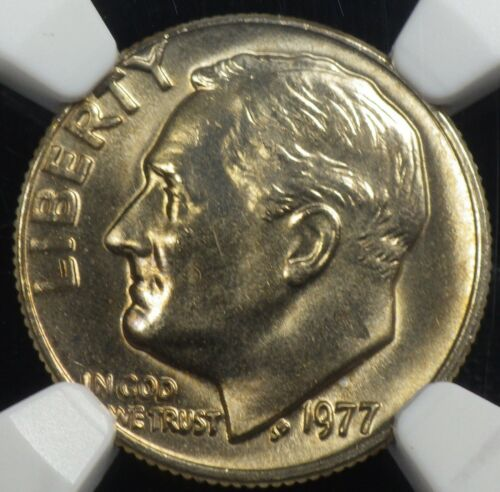 1977 Roosevelt Dime NGC graded MS 67