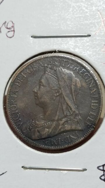 Great Britain Farthing, 1897 XF EF condition! (012)