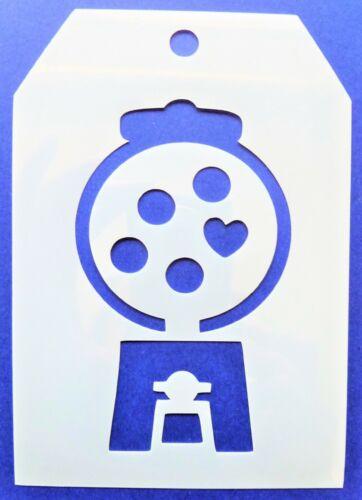 Flexible Stencil *GUMBALL MACHINE* Wedding Heart Card Making 9cm x 12.5cm