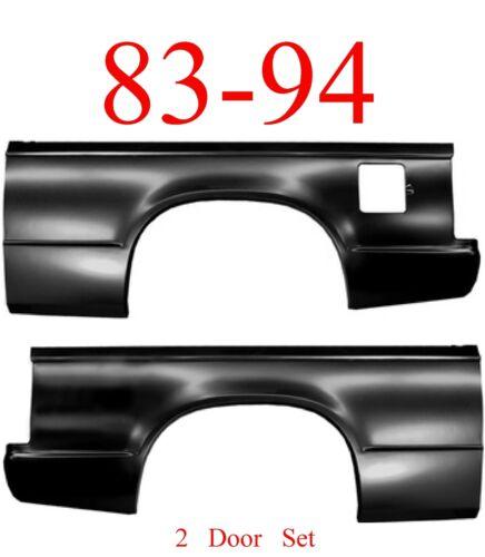 GMC Truck Jimmy 83 94 Chevy S10 Blazer Quarter Panel Set 2 Door