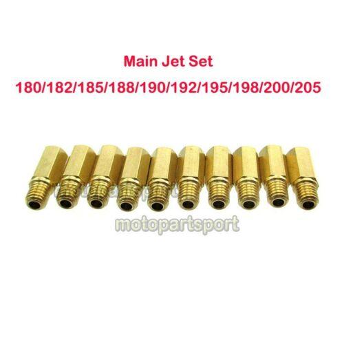 Main Jet 180//182//185//188//190//192//195//198//200//205 For Keihin PWK PE OKO KOSO Carb
