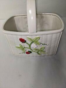 Otagiri Japan 1983 Ceramic Basket Planter