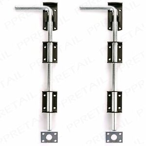 2 X High Quality Garden Gate Garage Door Drop Bolt Floor