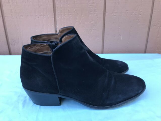 095dcf175a9bc Sam Edelman Womens Booties Size 9M Petty Black Suede Ankle Boots Zip ...