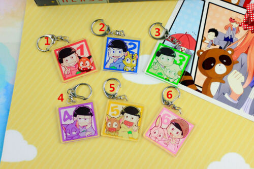 Anime Osomatsu-san Acrylic keychain Key Ring Race Straps