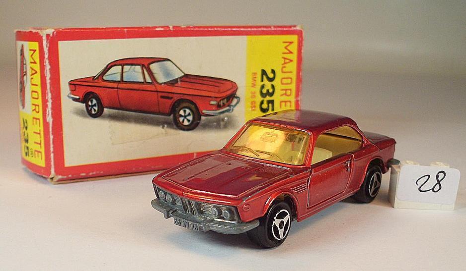 Majorette 1 60 nº 235 BMW 3.0 CSi coupé rougemetallic neuf dans sa boîte  028