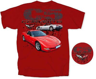 080 Gris Chevrolet Corvette Logo GM Car Auto Fun Fun T-Shirt