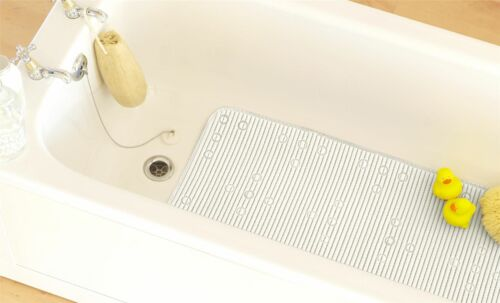PVC Memory Foam Soft Safety Non-Slip Bath Mat Cream Blue