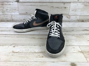 purchase cheap 63e52 1be99 Details about Nike Air Jordan 1 Bronze Medal 332550-016 Black Athletic  Sneakers Mens Size 8.5