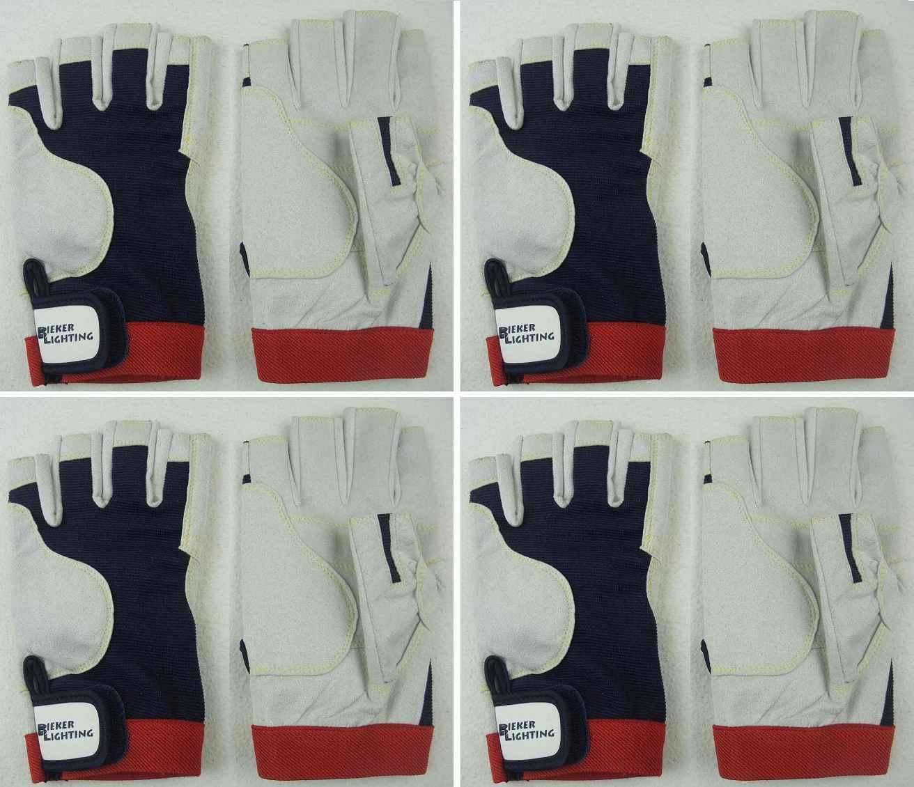 4x AMARA Handschuhe M (8) fingerlos Arbeitshandschuhe Montagehandschuhe Rigger