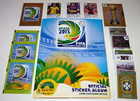 PANINI CONFEDERATIONS CUP 2013 - COMPLETE ALBUM + LOOSE STICKERS + UPDATE