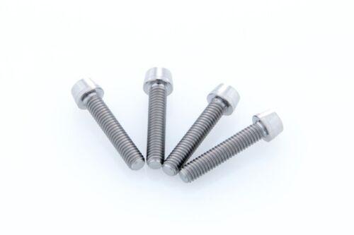 x4 New Grade-5 Titanium Bolt M4x20mm Tapered Head Hex M4 20L Ti-6Al-4V Ti Screw