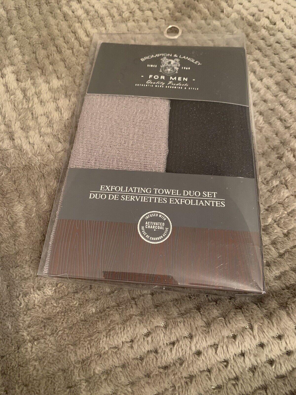 Brompton & Langley Exfoliating Towel Duo Set For Men