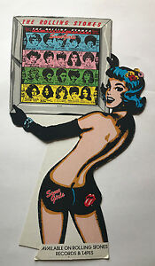 Rare-ROLLING-STONES-Some-Girls-Promotional-Counter-Stand-Up-Display-ORIG-1978