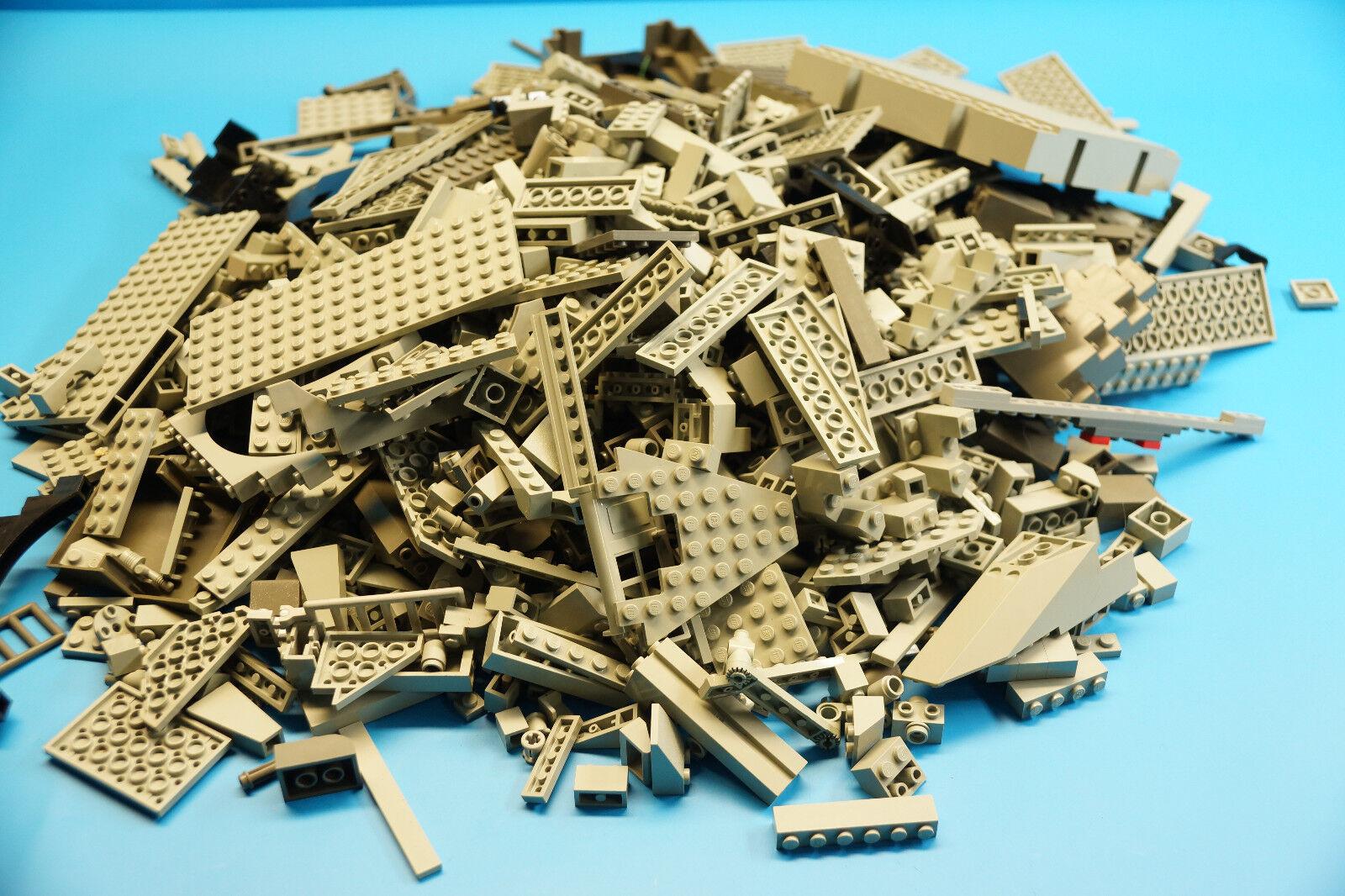 LEGO 2 Kg graue Bausteine   Formsteine - Sondersteine usw.  (J744