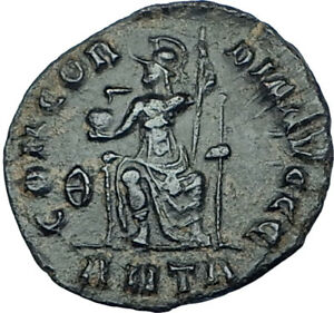 GRATIAN-Genuine-378AD-Antioch-Authentic-Ancient-Roman-Coin-Rome-as-Roma-i65940