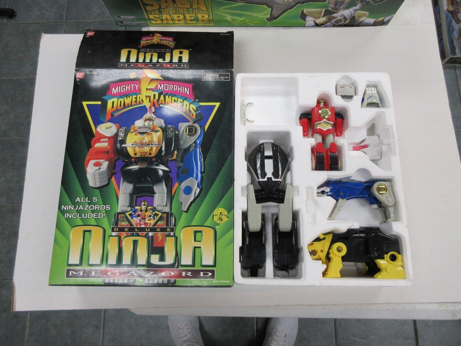 1995 MMPR POWER RANGERS DELUXE NINJA MEGAZORD W/ BOX