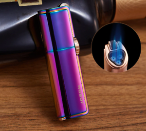 Powerful-and-Windproof-Triple-Jet-Torch-butane-torch-lighter-flame-refillable
