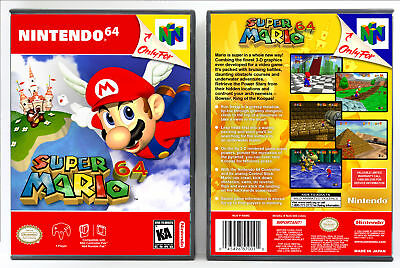 Super Mario 64 Nintendo 64 N64 Custom Case No Game Ebay