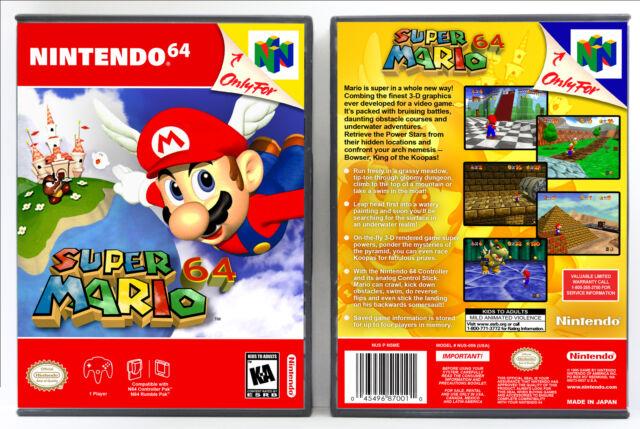 Super Mario 64 - Nintendo 64 N64 Custom Case *NO GAME*