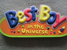 BEST BOY IN THE UNIVERSE CHILDREN'S BEDROOM DOOR PLAQUE
