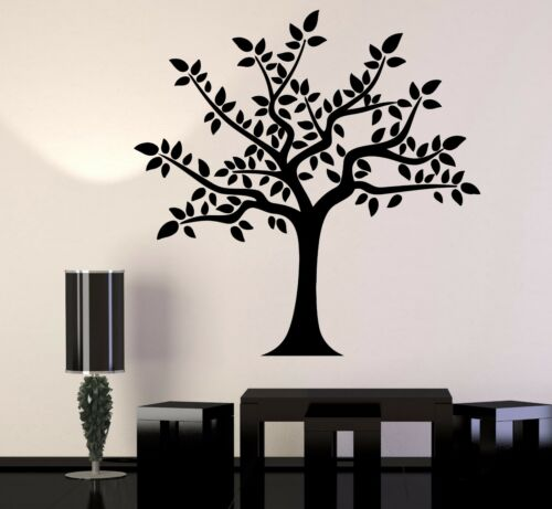 Vinyl Wall Decal Tree Leaves Room Home Decoration Stickers Mural 383ig