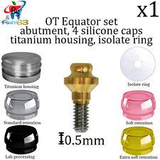 Dental Implant RS Equator Attachment Abutment Set For Overdenture  0.5mm