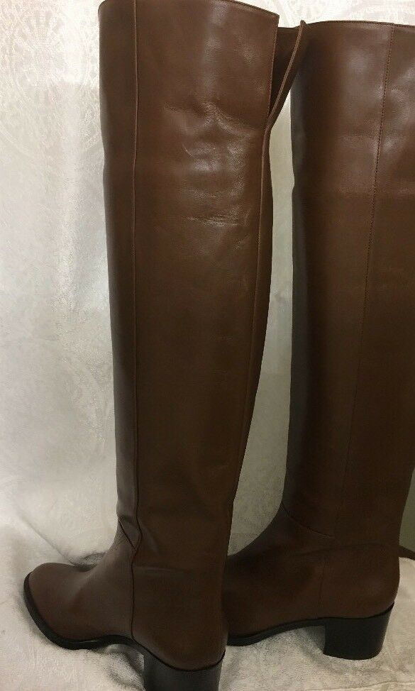 Gianvito Rossi Over Stiefel The Knee Stiefel Over braun Leather Größe 39 1 2 New ee6411