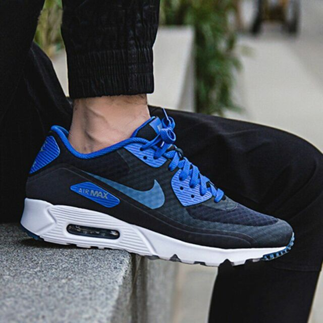 more photos 32a11 3a2a3 Nike Air Max 90 Ultra Essential Dark Obsidian Ocean Fog 819474-405 Men s Sz