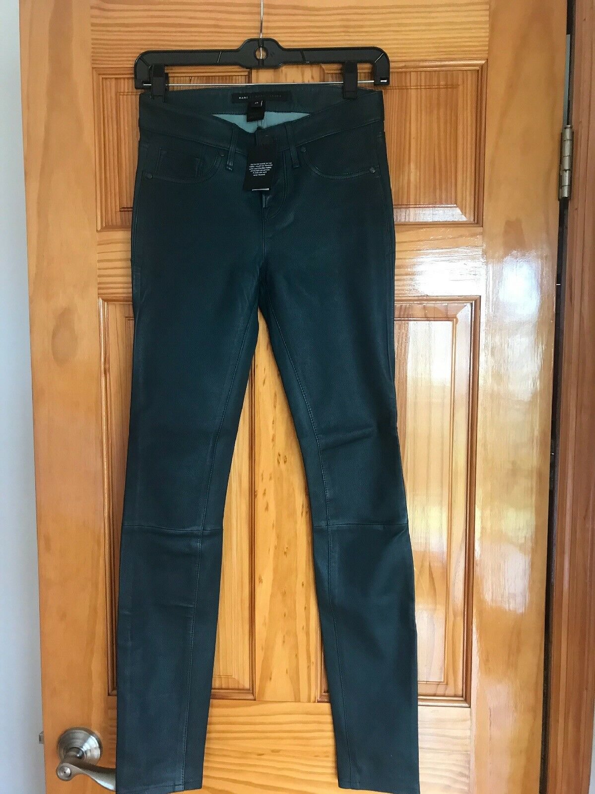 Marc by marc jacob leather pants green 25