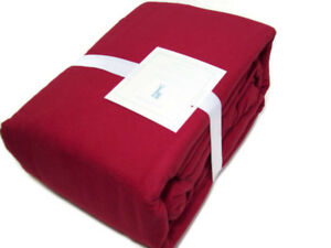 Pottery-Barn-Kids-Solid-Red-Color-Flannel-Cotton-Full-Sheet-Set-New