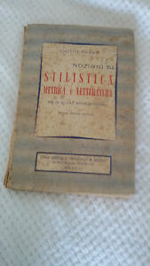 NOZIONI STILISTICA METRICA LETTERATURA EMILIO GARRO 1956 Scuole Medie Superiori