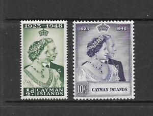 1948-KGVI-Royal-Silver-Wedding-Set-SG129-amp-SG130-Mint-Hinged-CAYMAN-ISLANDS
